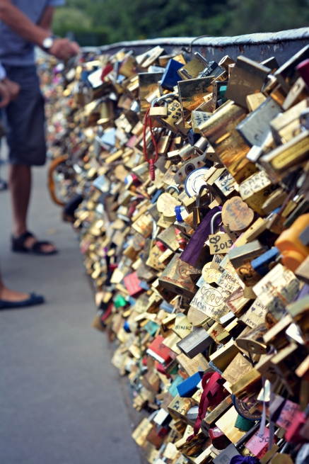 Love Lock Bridge, Paris, France